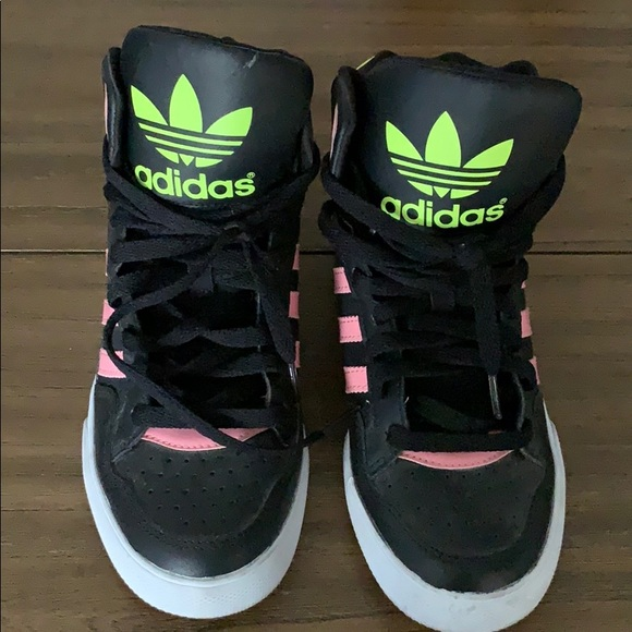 Adidas neon yellow X18+TR sneakers $84 Shop AW18 Online